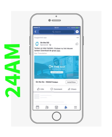 On The GO! download Facebook 24AM creative media agency marketing trends amsterdam